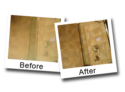 A safe and effective way to remove hard water stains from showers doors.