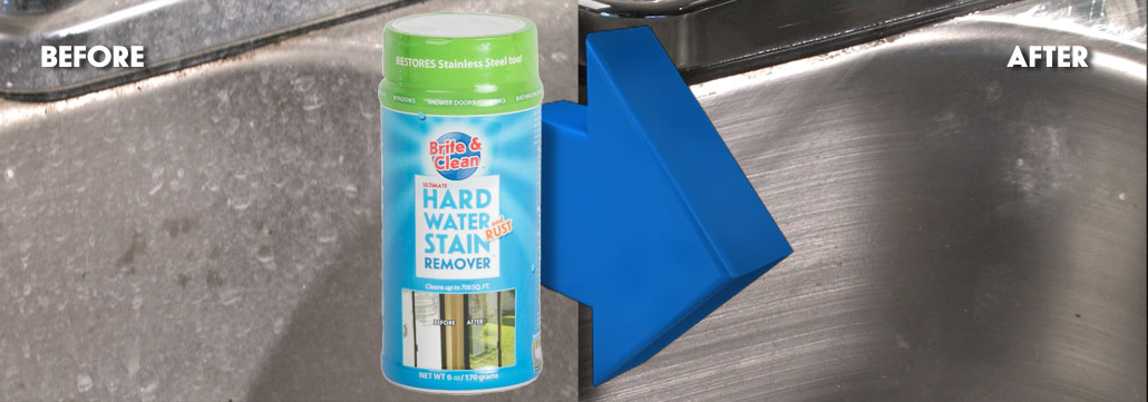 Hard Water Stains on Stainless Steel & Chrome