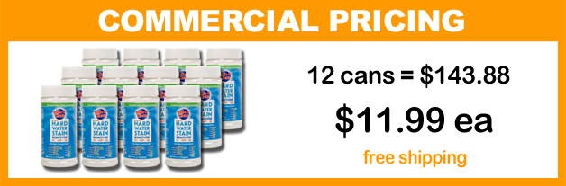 order a 12-pack case of the Simple Cleaning Solution™ for Hard Water Stain Removal