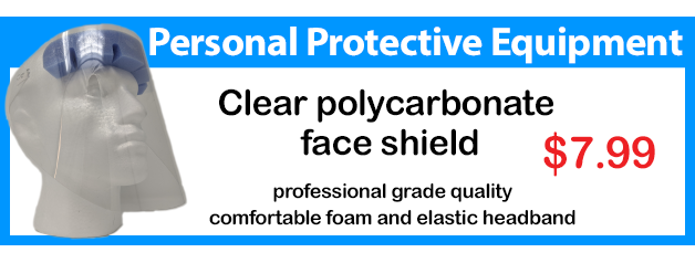 order a professional grade polycarbonate face shield